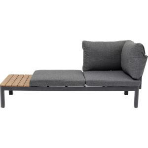 KARE DESIGN Recamiere Happy Day Left chaiselong - polyester, WPC og aluminium (166x66)