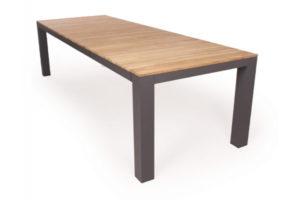 Vita Udtræksbord - 100x210/289 cm - Antracit/teak