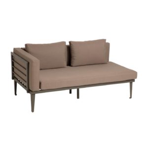 LAFORMA Pascale 2 pers. havesofa, m. stofhynder - grå aluminium (161cm)