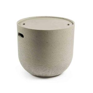 LAFORMA rund Rhette sidebord - grå cement (Ø49)