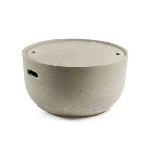 LAFORMA rund Rhette sidebord - grå cement (Ø58)