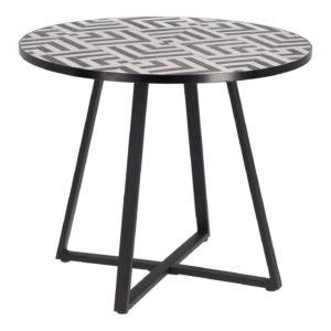 LAFORMA rund Tella havebord - cement, keramik og stål (Ø90)