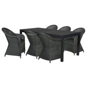 Philina XL300 havemøbelsæt inkl. hynder - Sort