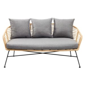 Havesofa - Amira - Sort/natur