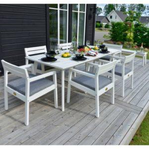 Hillerstorp havemøbelsæt inkl. hynder - Stoltö - Hvid