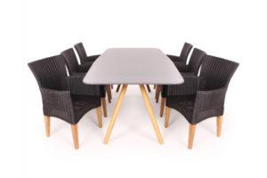 Lopes Vista Havemøbelsæt - 100x200 cm - Sort