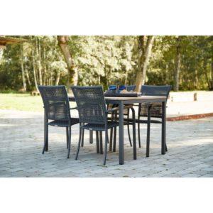 Mandalay havemøbelsæt - Toscana M - Antracit/natur
