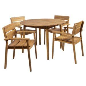 Coop havemøbelsæt - Aura Rund - Natur