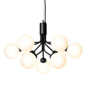 Nuura Apiales 9 Loftlampe Satin Sort/Opal Hvid