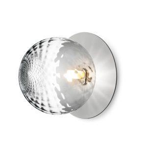 Nuura Liila Væg/Loftslampe Sølv & Klart Glas Stor