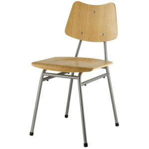 Poul M. Volther stol - J173 - Eg/grå