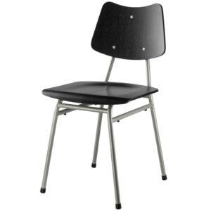 Poul M. Volther stol - J173 - Sort/grå