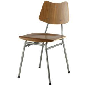 Poul M. Volther stol - J173 - Valnød/grå