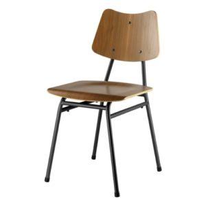 Poul M. Volther stol - J173 - Valnød/sort