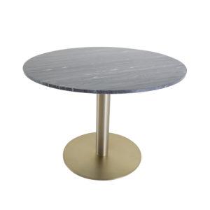 VENTURE DESIGN Estelle spisebord - sort marmor og messing metal (Ø106)