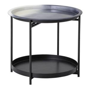 BLOOMINGVILLE Adelina bakkebord - grå metal