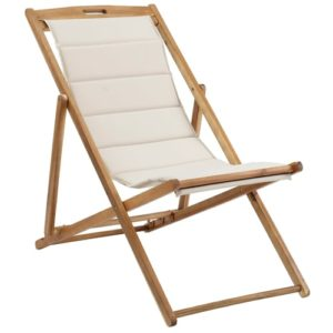 Coop solstol med ekstra kraftigt sæde - Anders - Natur/beige
