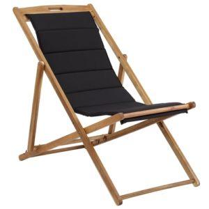 Coop solstol med ekstra kraftigt sæde - Anders - Natur/sort