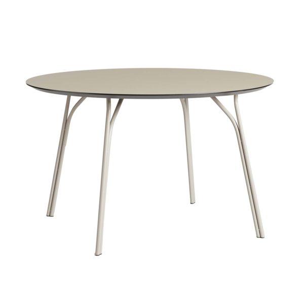 WOUD Tree spisebord - beige laminat og metal (Ø120)