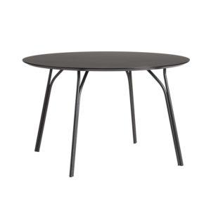 WOUD Tree spisebord - sort laminat og metal (Ø120)