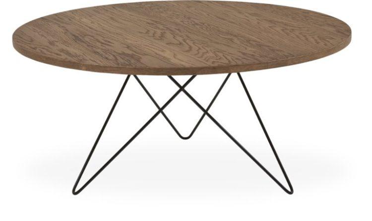 sofabord med krydsede ben i metal