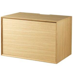 Living&more hi-fi skab - The Box - 37 x 58 x 34 cm - Eg