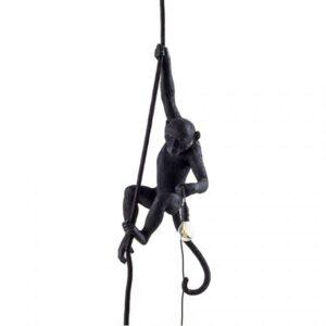 Seletti Monkey With Rope Loftlampe Sort Udendørs