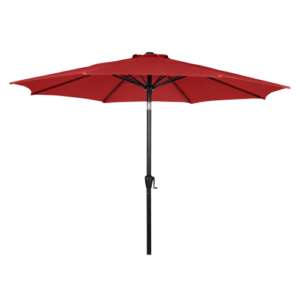Napoli parasol med krank og vippefunktion - Okkerrød