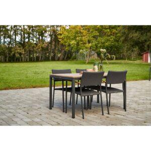 Mandalay Toscana havemøbelsæt med 4 Siena stole - Teak/antracit