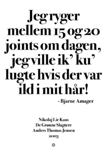 15 og 20 joints om dagen