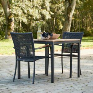 Mandalay Toscana cafésæt med 2 Ravello stole - Teak/antracit
