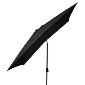 Taranto parasol med krank og tilt - Sort
