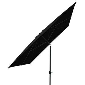 Trieste parasol med krank og tilt - Sort