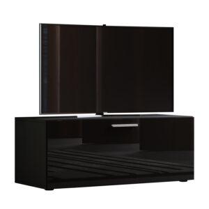Winalo højglans 95 TV-bord, m. 1 låge - sort træ