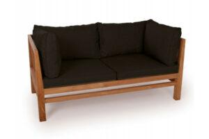 Colorado Teak - Sofa - 2 pers. -m/Sorte hynder