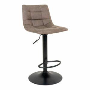 HOUSE NORDIC Middelfart barstol - lysebrun stof og sort stål