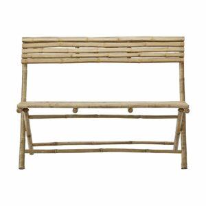 Lene Bjerre Mandisa bænk med ryglæn bambus