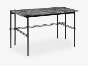TS Desk - 120x60 Black base, Marble Grey Top