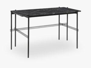 TS Desk - 120x60 Black base, Marble black top
