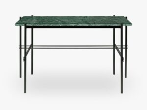 TS Desk - 120x60 Black base, Marble green top
