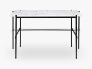 TS Desk - 120x60 Black base, Marble white top