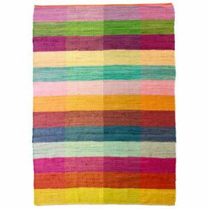 Living&more gulvtæppe - Chindi - Pangfarver
