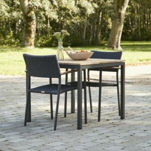 Mandalay Toscana cafésætsæt med 2 Siena stole - Teak/antracit