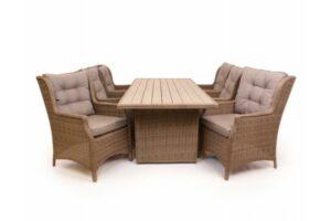 1.Siesta Dusty Havemøbelsæt m/6 loungestole - 94x210 cm