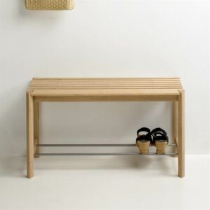 Thomsen Furniture Bænk - Egetræ - Lakeret